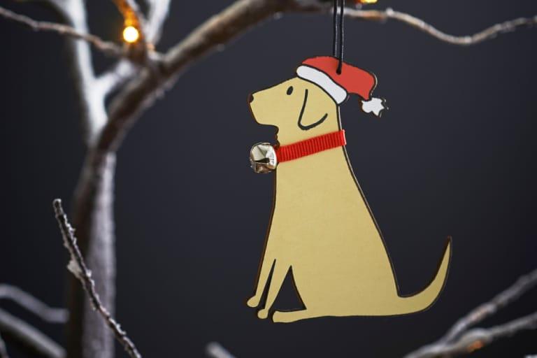 Yellow Labrador Christmas Decorations