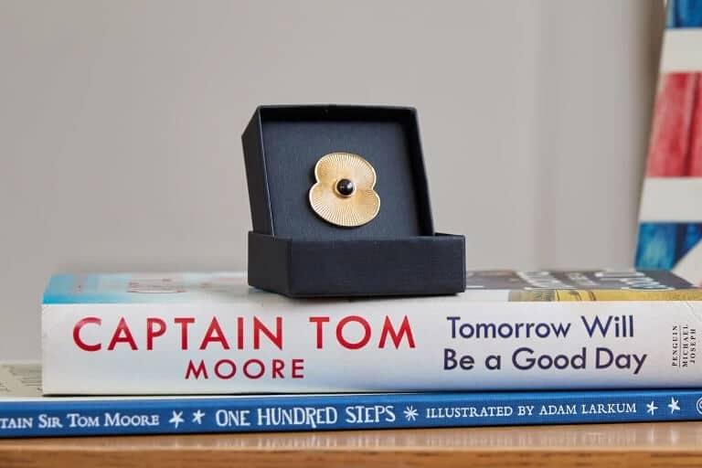 Captain Sir Tom Gold Plated Pin