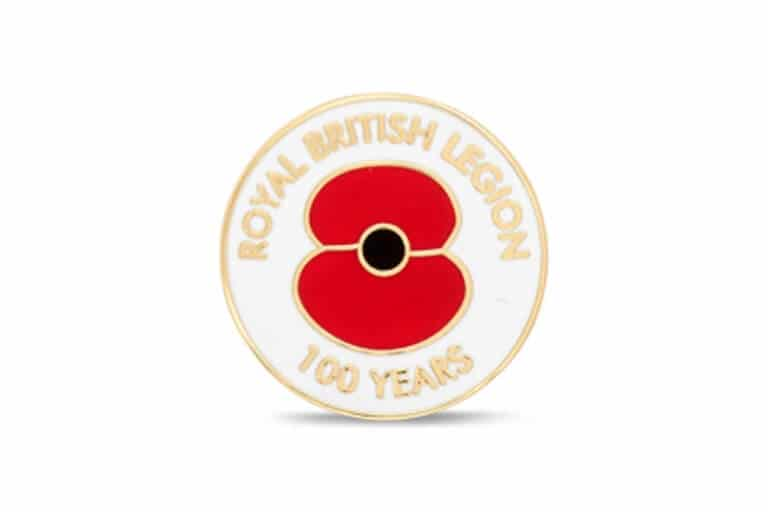 Royal British Legion 100 Years Lapel Pin
